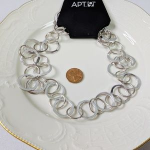 🌜3 for $25 🌛Apt 9 Silver Circle Link Necklace
